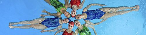 Synchronised swimmers 500x120